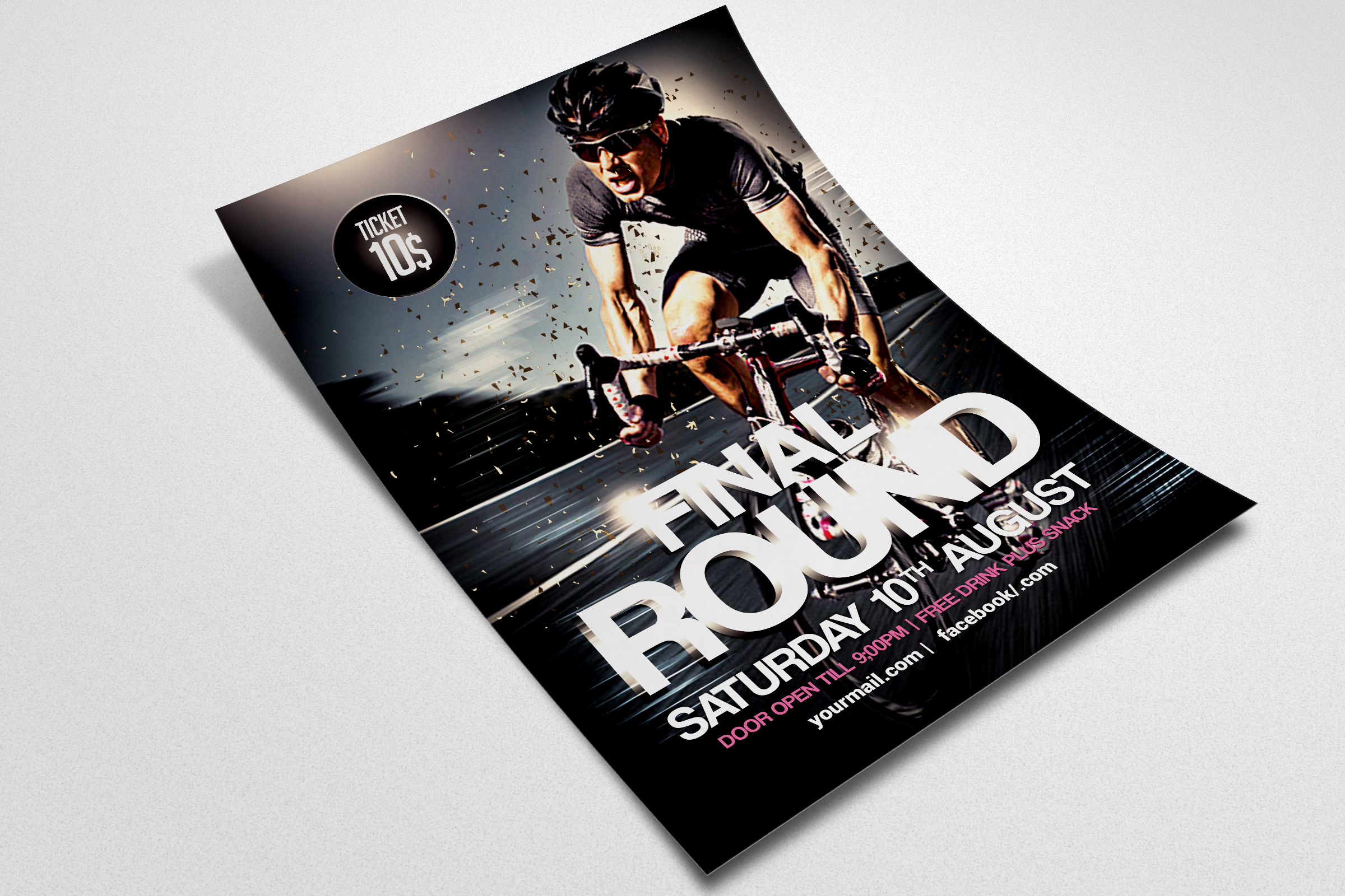 Bicycle Racing Flyer Template example image 2