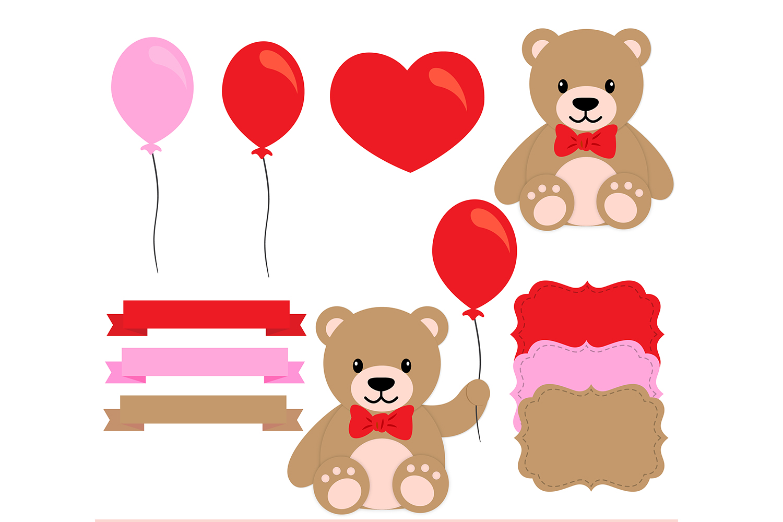 valentine digital paper valentine bear background bear pattern