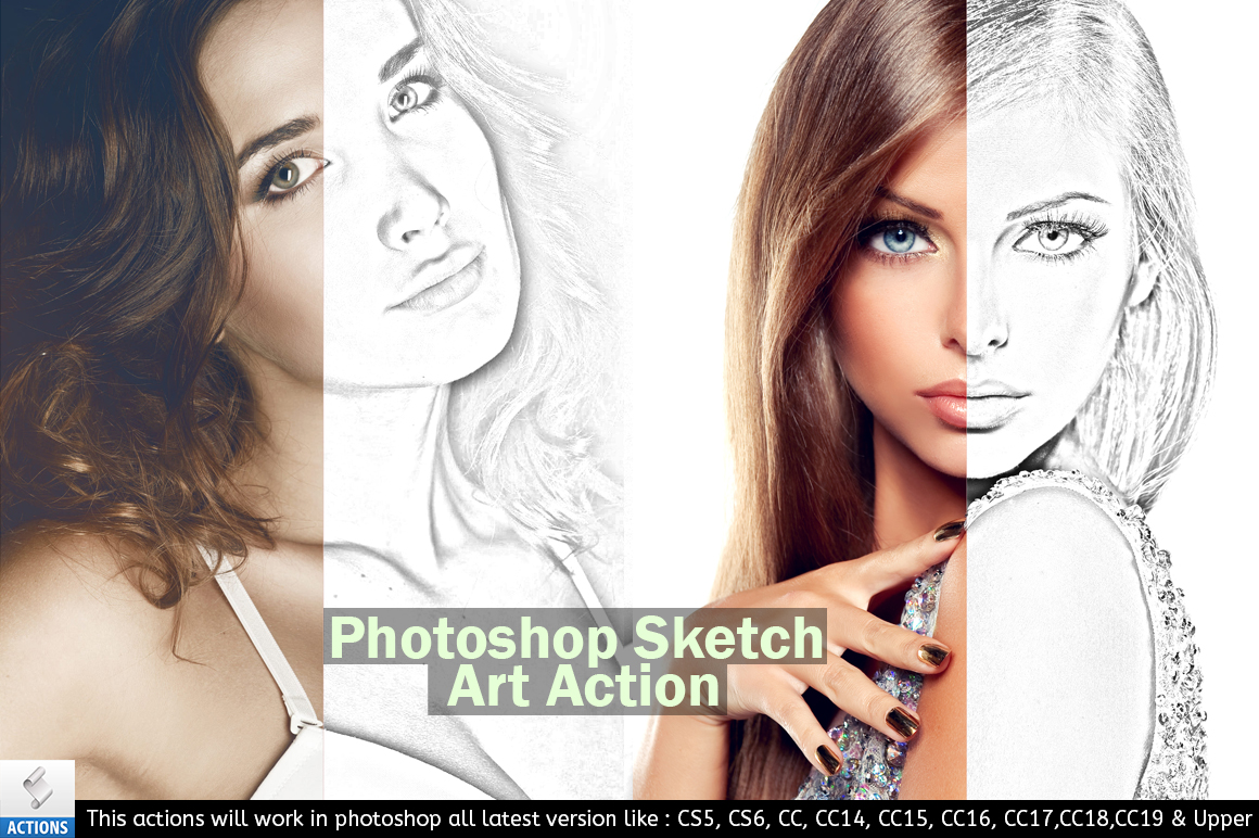 Photoshop Sketch Art Action example image 3