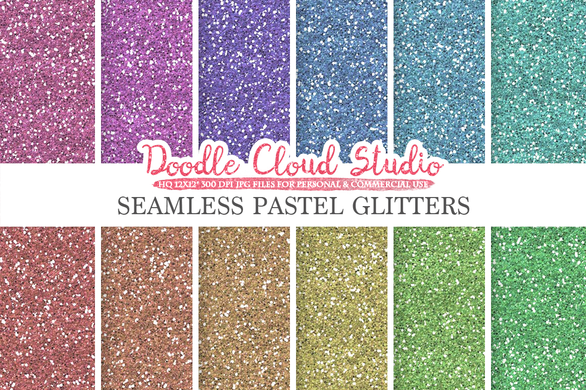 SEAMLESS Pastel Glitter digital paper, light colors sparkling Backgrounds Bright Rainbow sparkles Instant Download Personal & Commercial Use example image 1