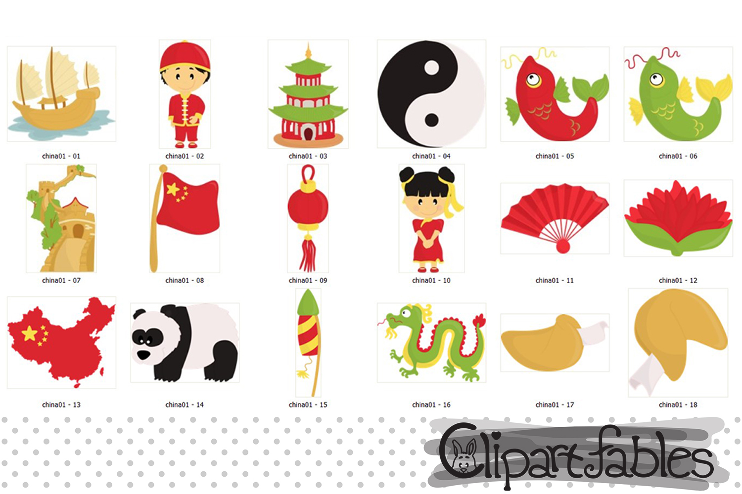 china clipart chinese new year clipart travel art digital example image 2