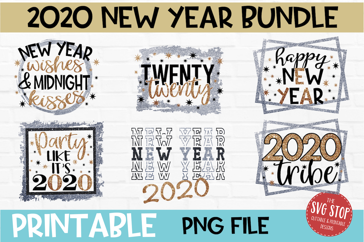 New Year Sublimation Design PNG File Bundle example image 1