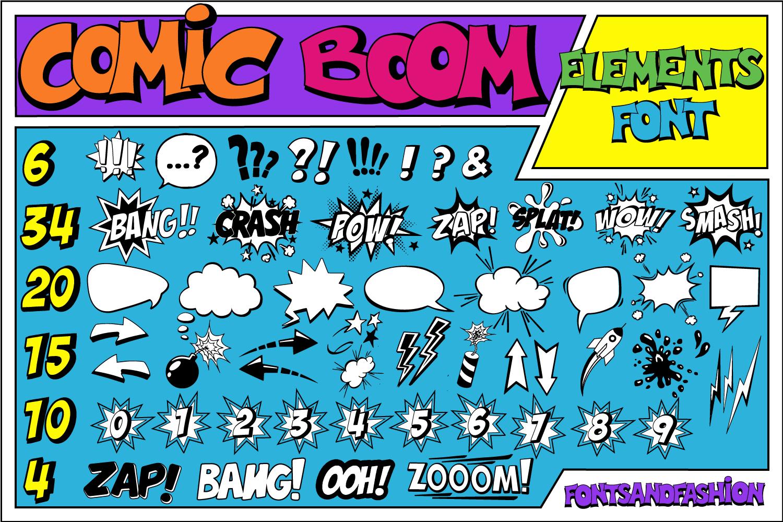 Comic Boom Elements example image 1