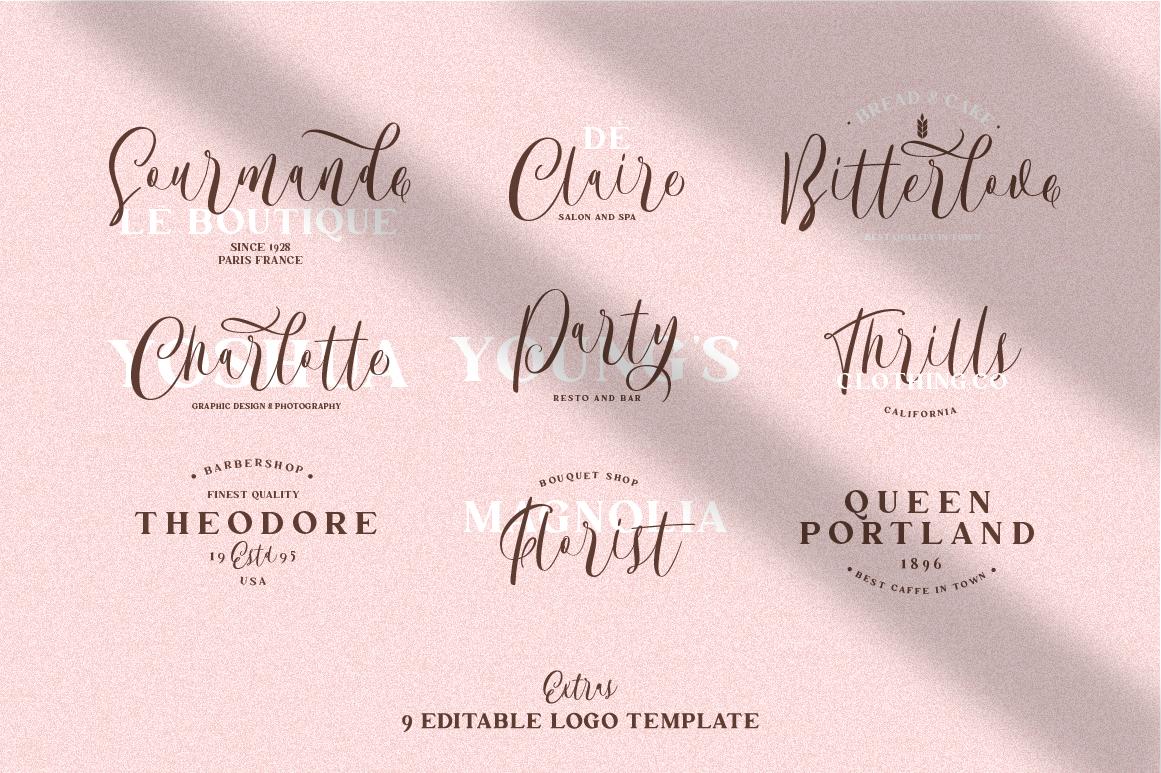 The Bordellia Font Duo example image 11