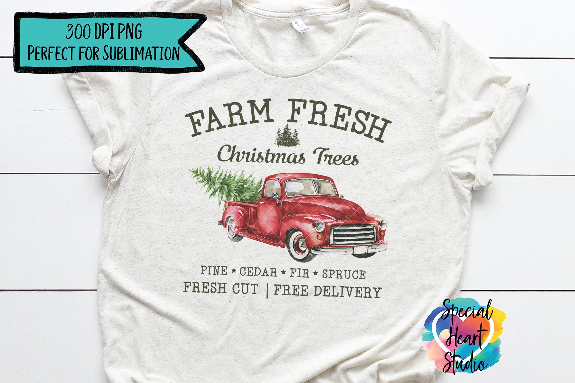 Christmas Sublimation Printable - Farm Fresh Christmas Trees example image 3
