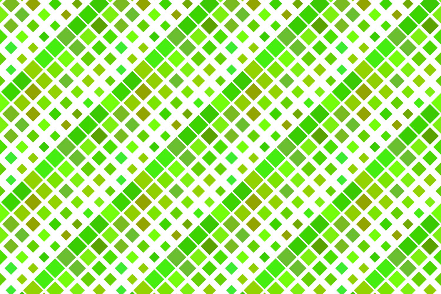 24 Seamless Green Square Patterns example image 7