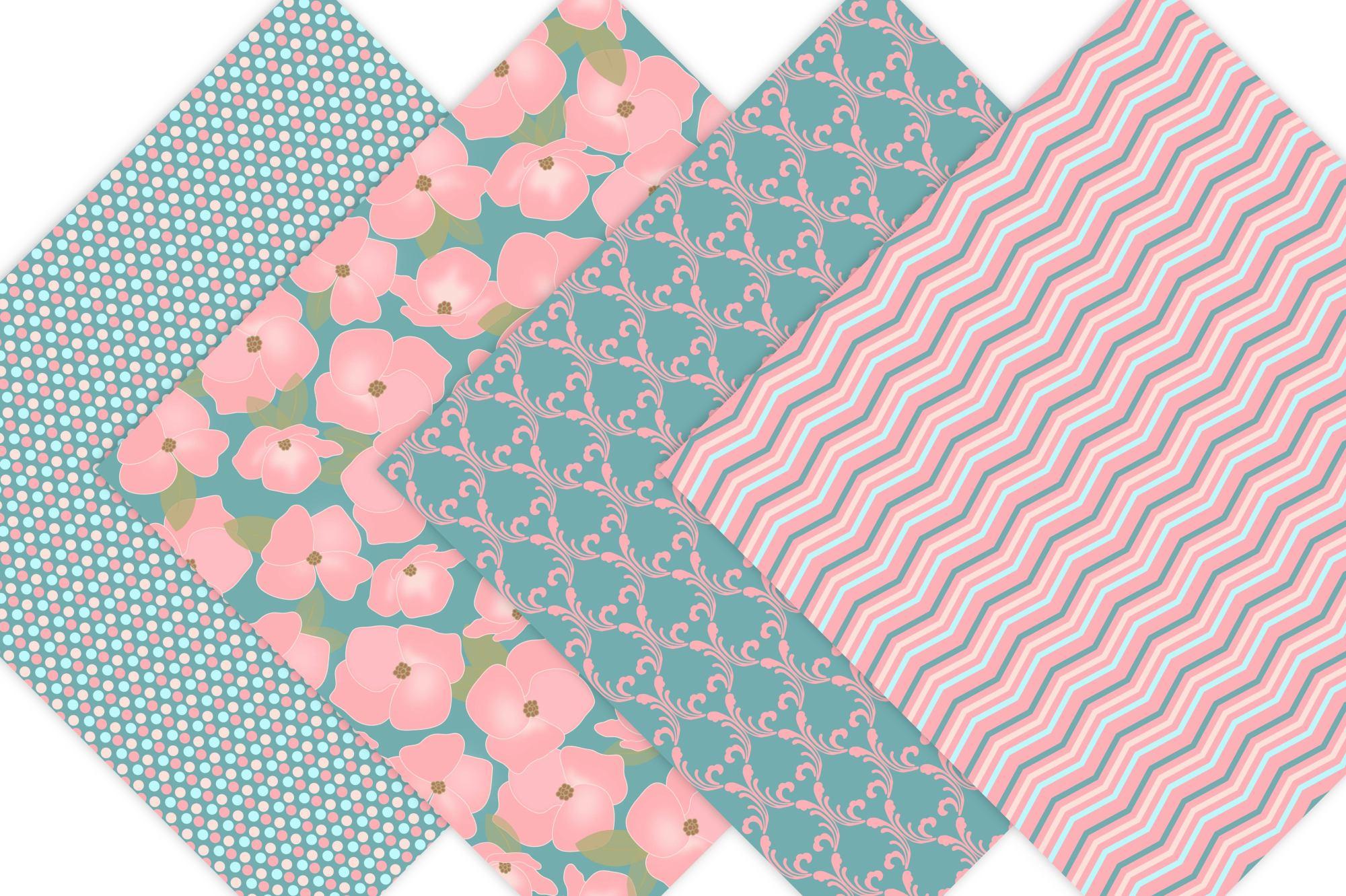 Floral Digital Paper example image 4