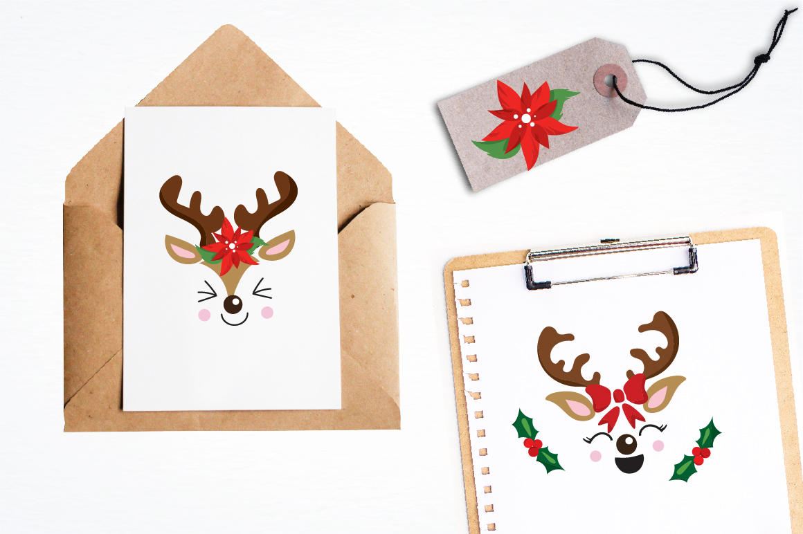 Reindeer icons graphics and illustrations example image 4