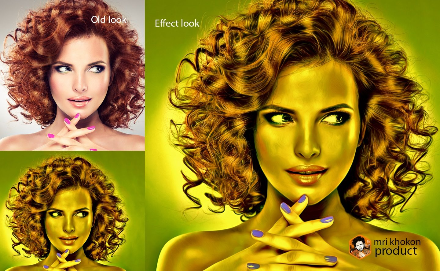Gold Look Photoshop Effect example image 4