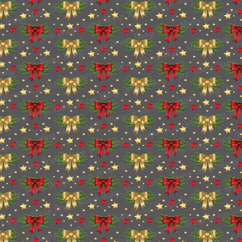 Red and Gold Christmas Digital Paper Pack / Backgrounds / Scrapbooking / Patterns / Printables / Card Making example image 4