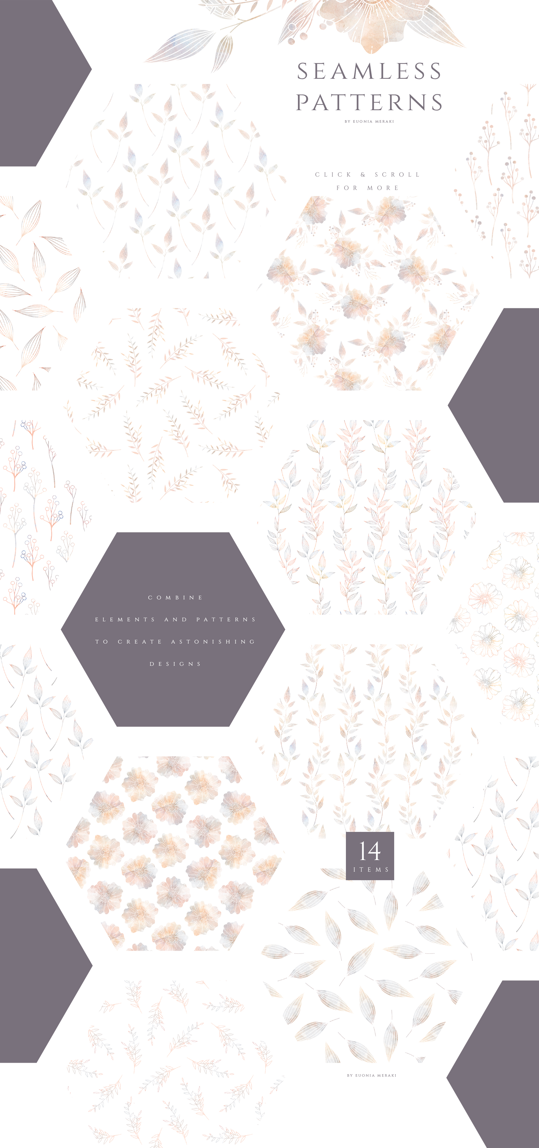 MISTY Dusty Floral Graphics and Monograms example image 9