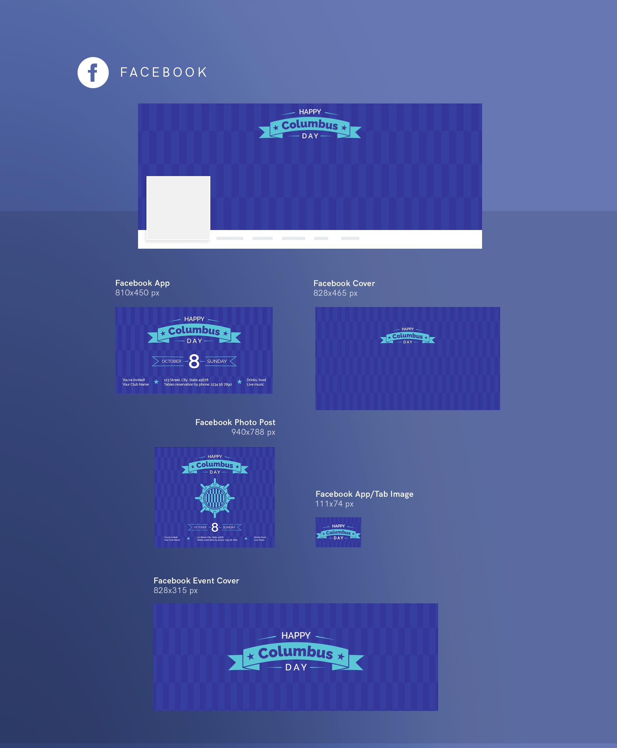 Columbus Day Party Design Templates Bundle example image 9