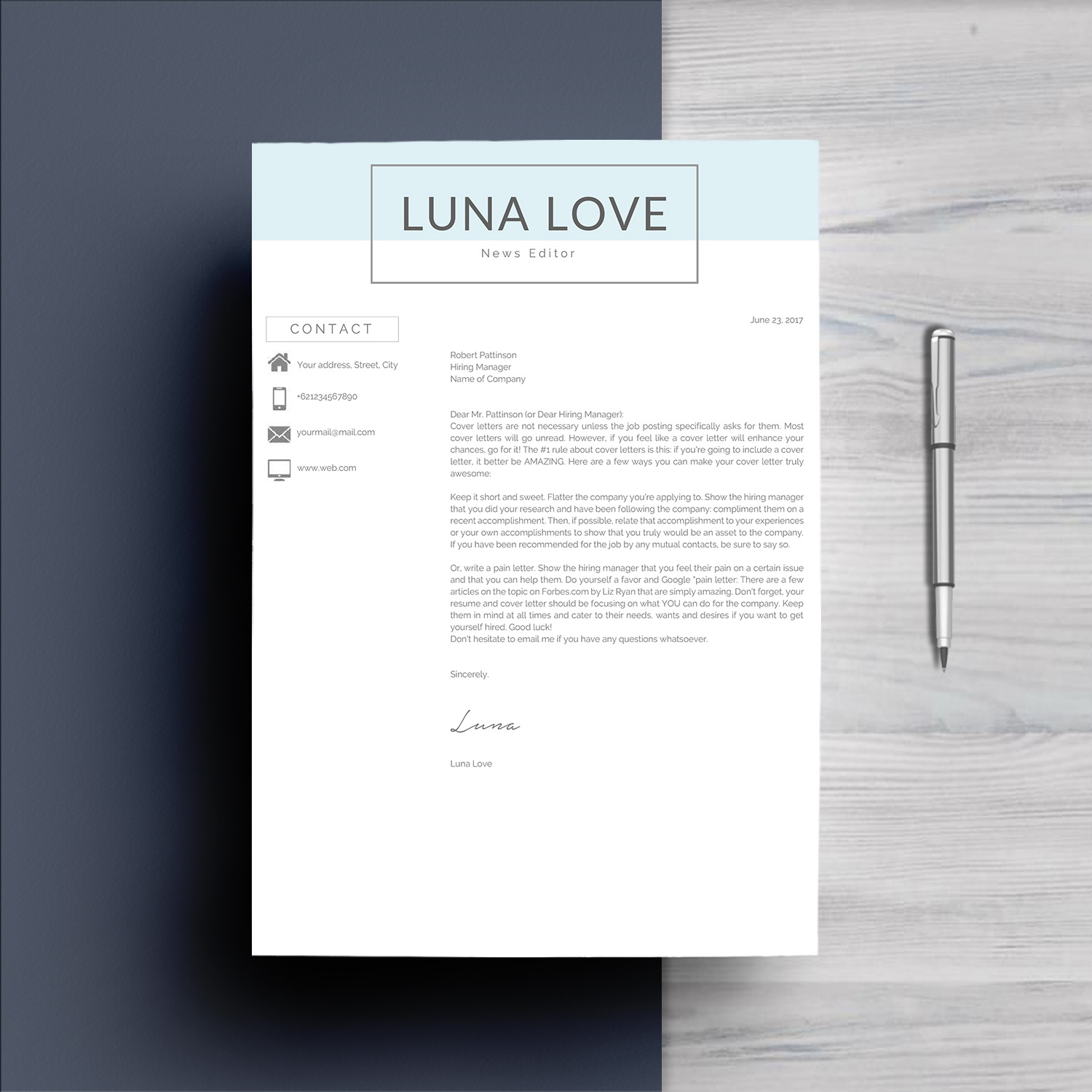 Professional 4 Pages Resume Template example image 5