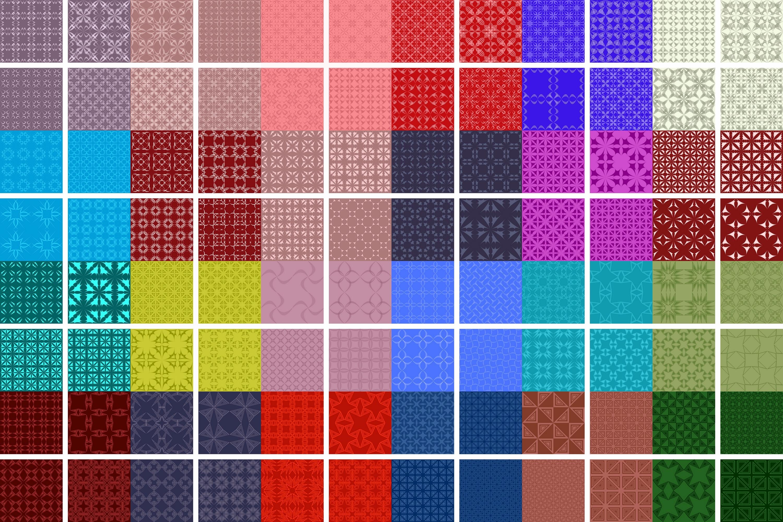 280 seamless symmetrical pattern backgrounds (AI, EPS, JPG 5000x5000) example image 3