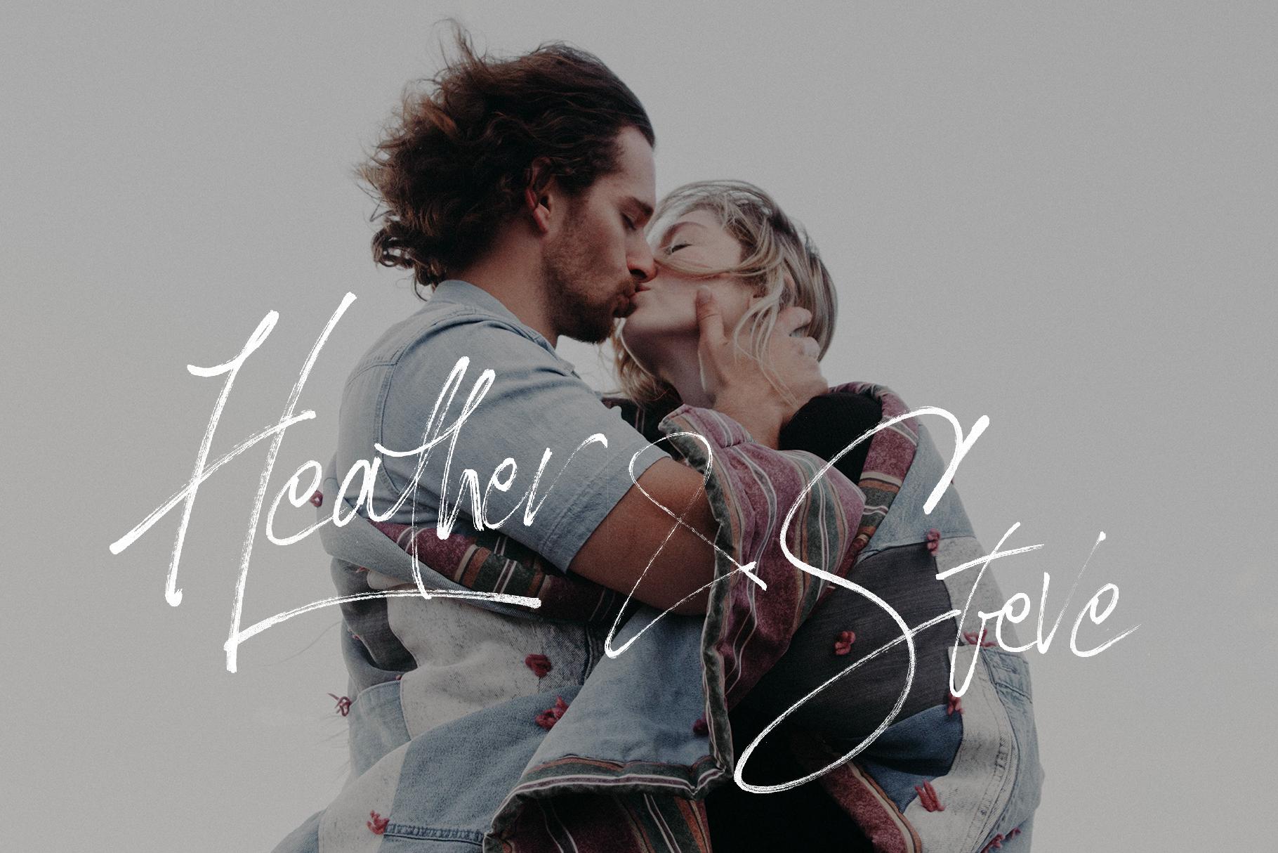 Loving Celine Signature SVG Font Trio - Modern Brush Fonts example image 6