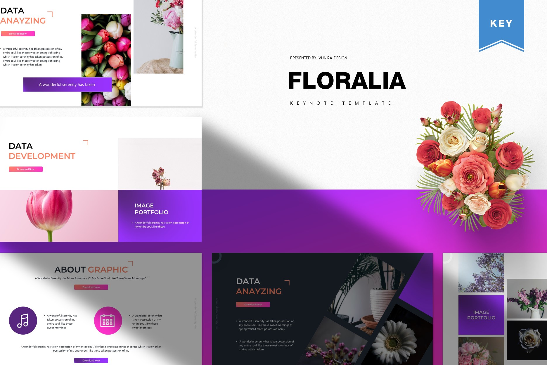 Floralia | Powerpoint, Keynote, GoogleSlides Template example image 3