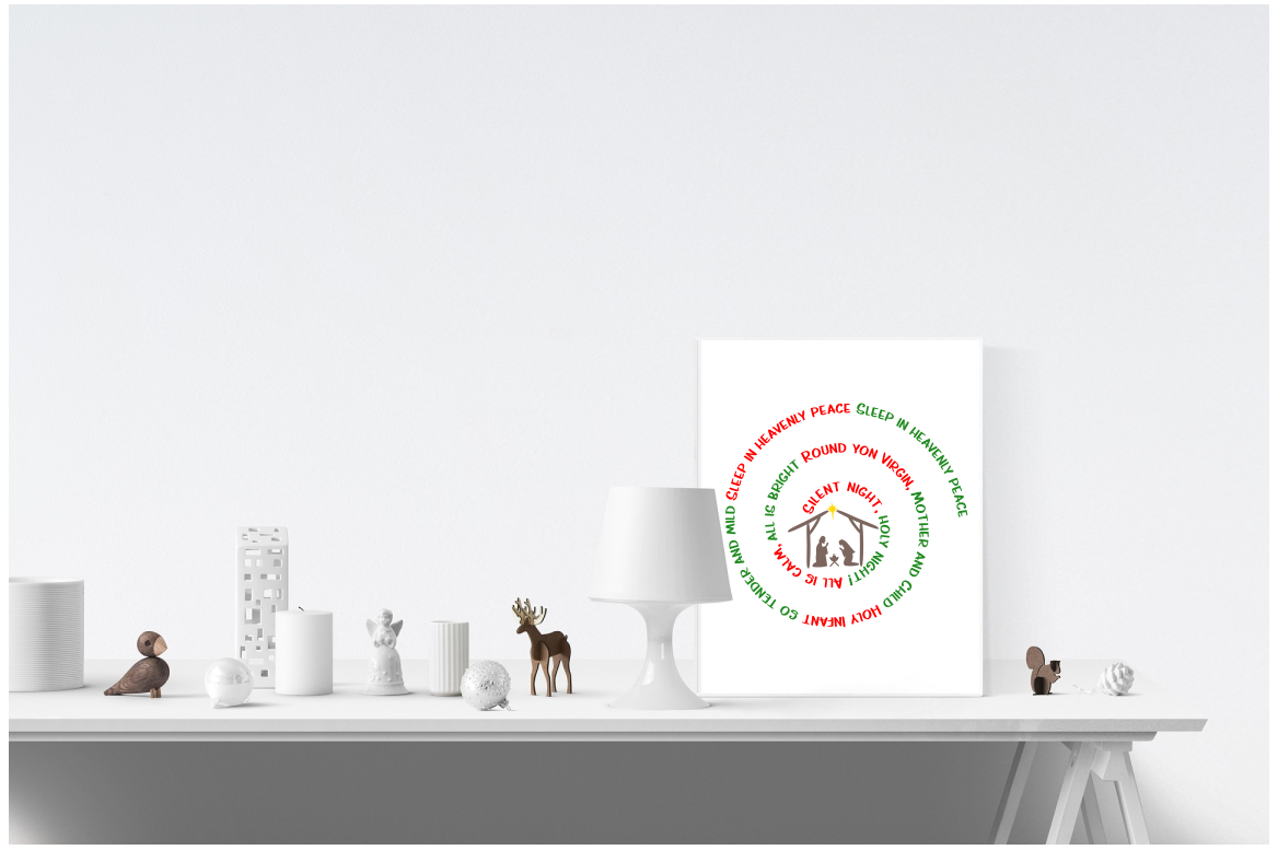 Christmas SVG Silent Night Spiral SVG example image 3