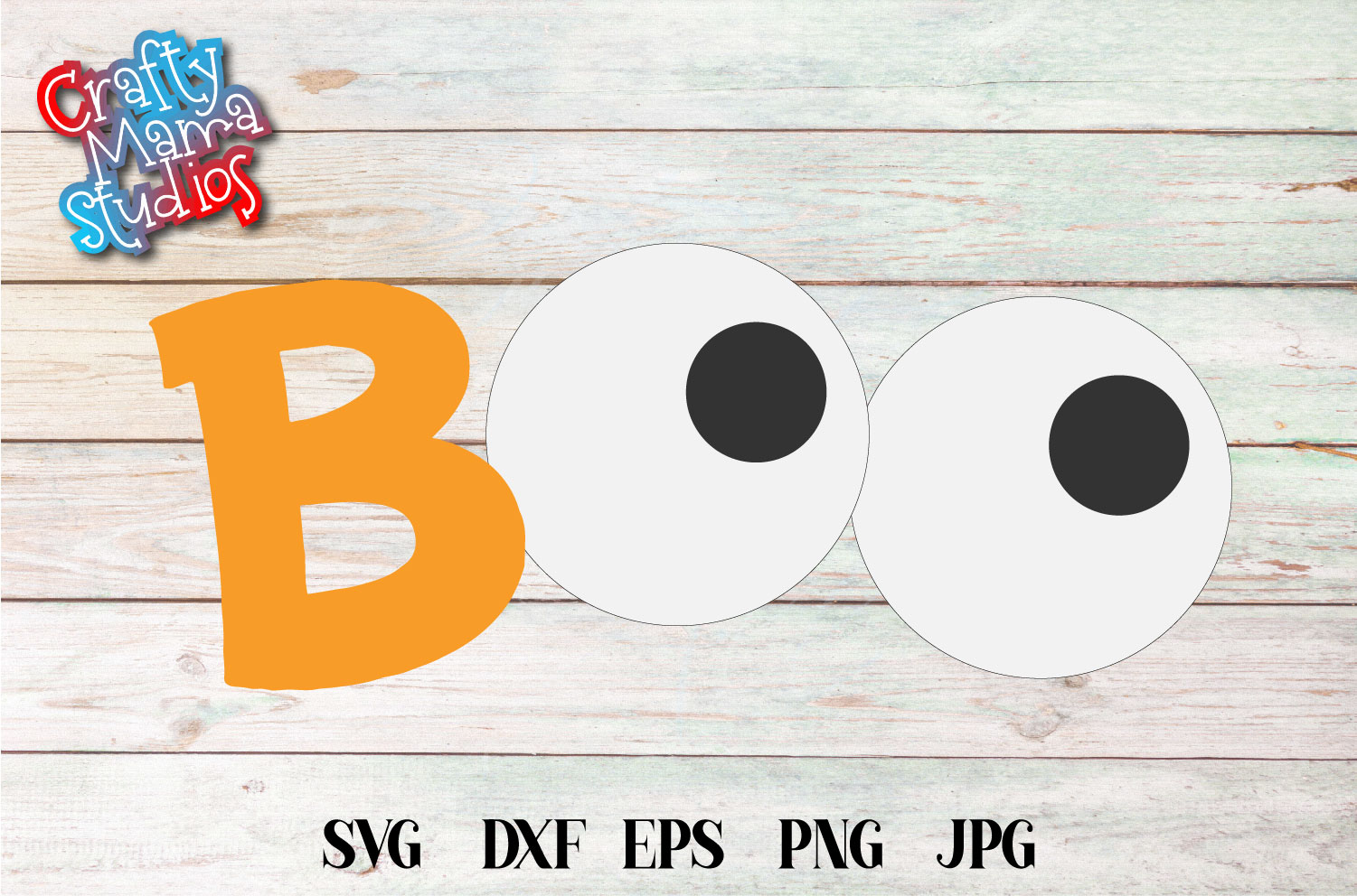Boo Halloween SVG Sublimation, Halloween Eyes SVG example image 2