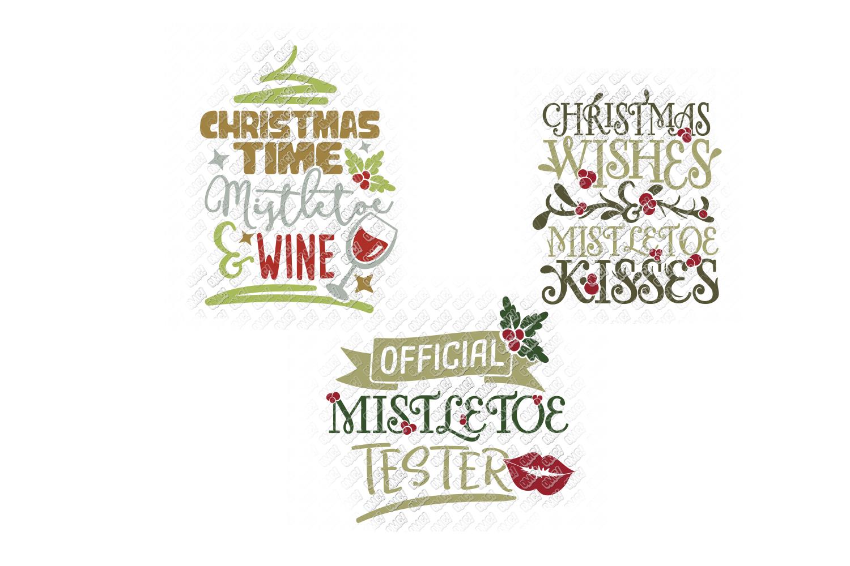 Mistletoe SVG Monogram Christmas in SVG, DXF, PNG, EPS, JPEG example image 9