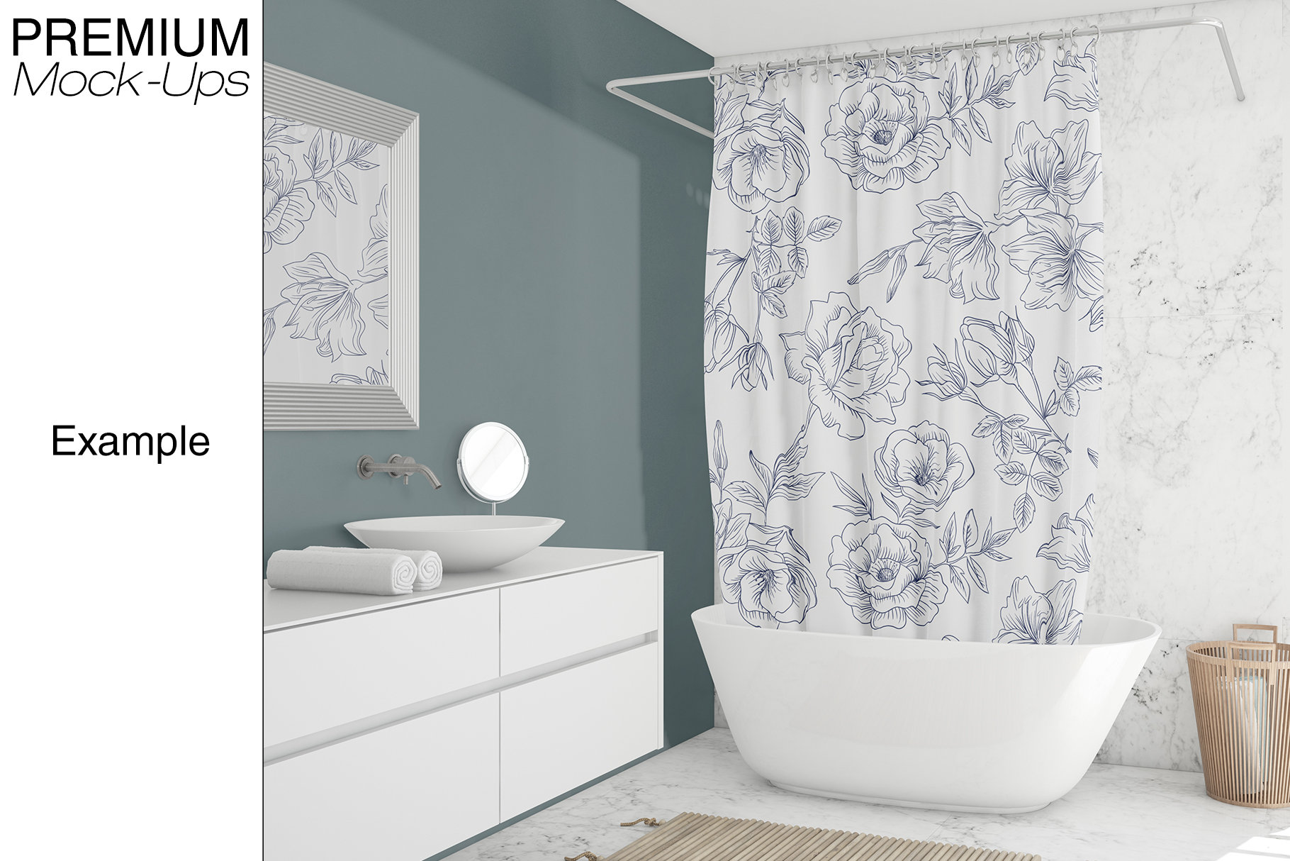 Shower Curtain Mockup Pack example image 2