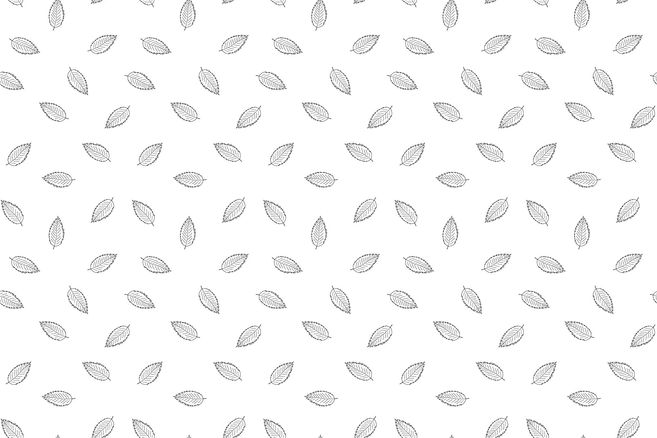 Autumn seamless patterns. Handdrawn example image 3