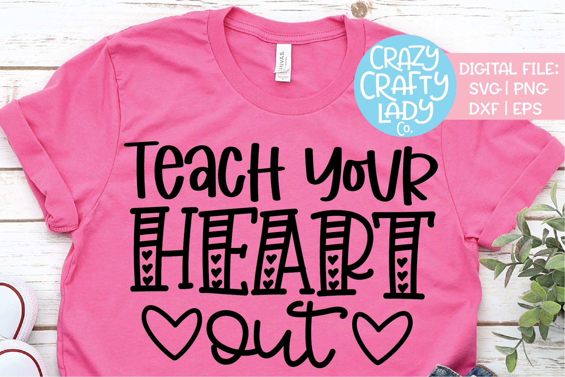 Teach Your Heart Out Valentine's SVG DXF EPS PNG Cut File example image 1