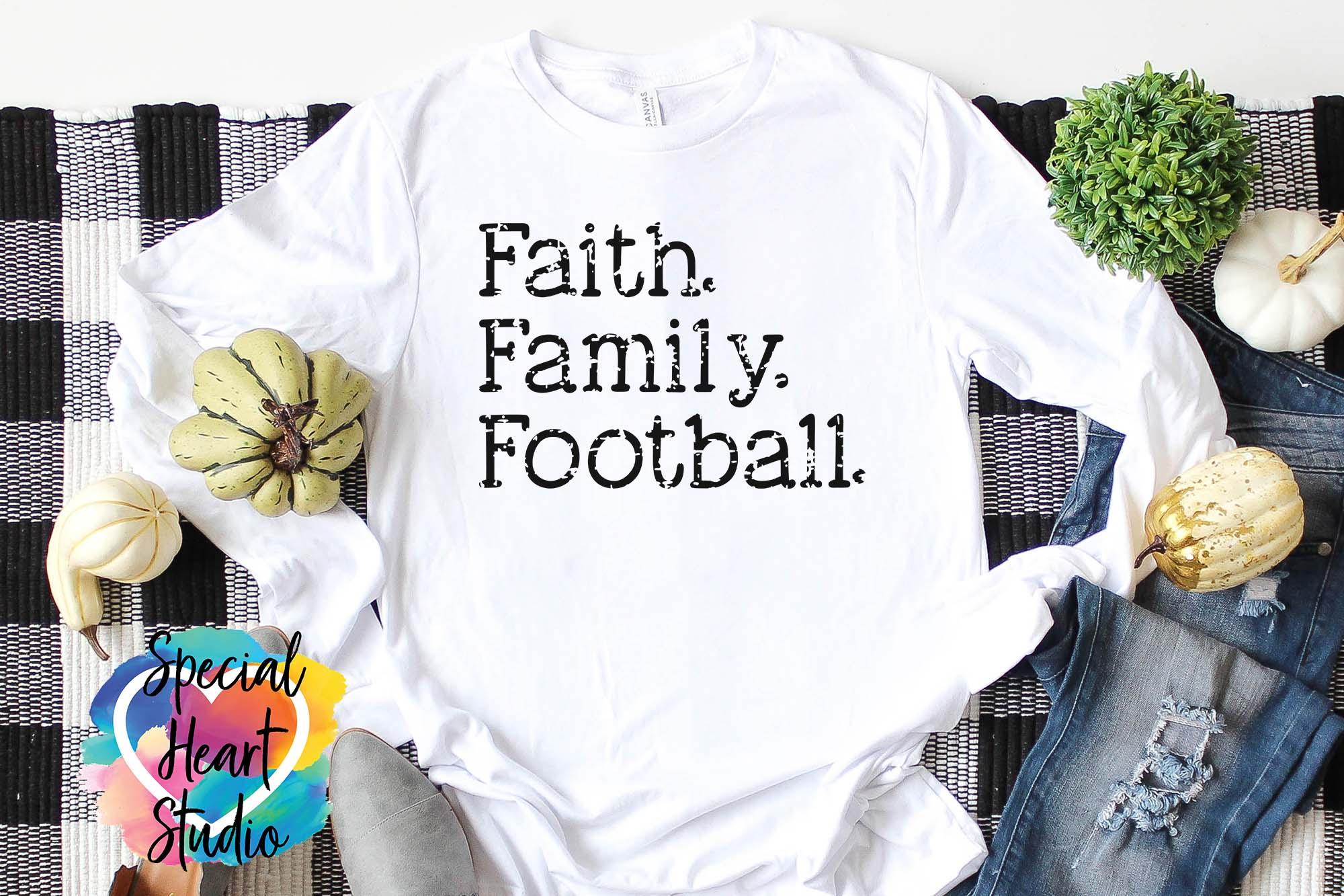 Faith. Family. Football. - A fall football Fan SVG Cut file example image 3