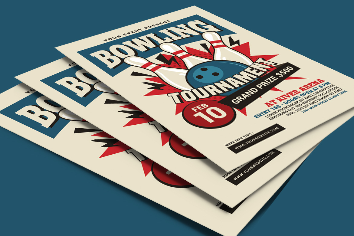 Bowling Tournament Flyer example image 4