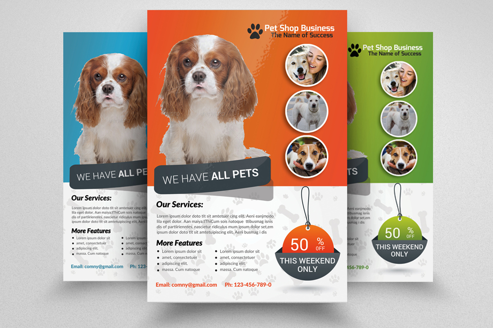 6 Pet Shop Business Flyers Bundle example image 2