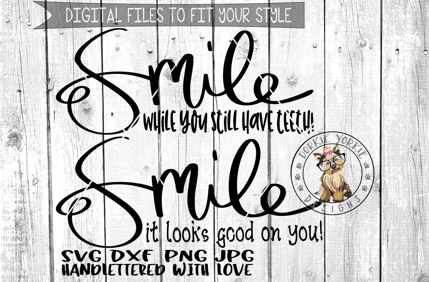 Sweet & Salty Collection - Smile  - Hand lettered  - SVG cut file example image 1