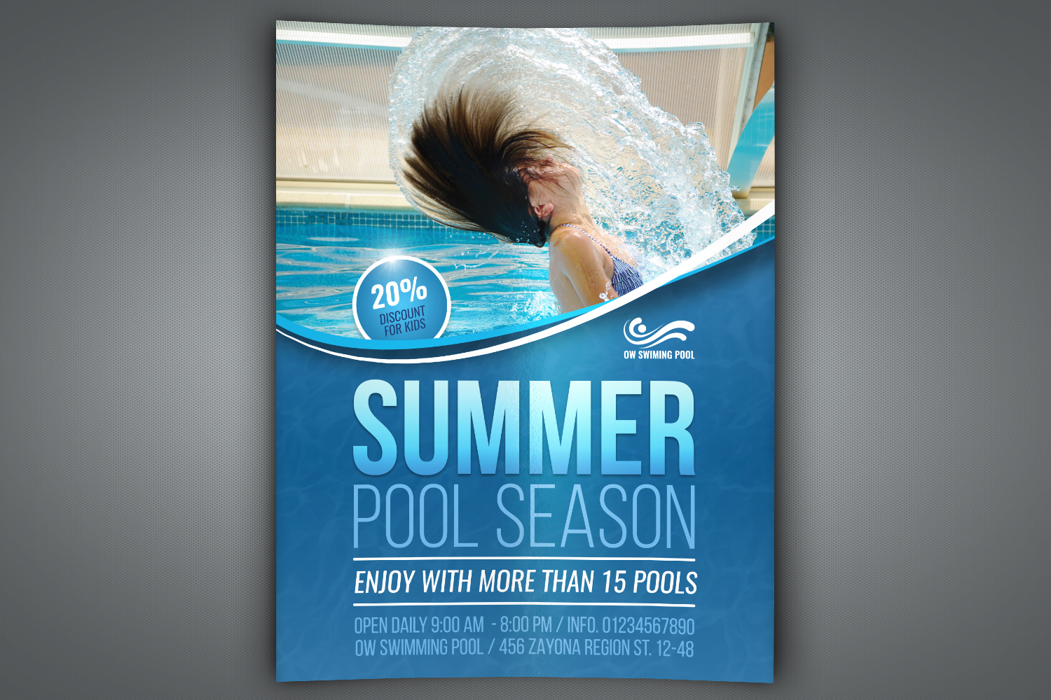 Swimming Pool Flyer Template example image 1