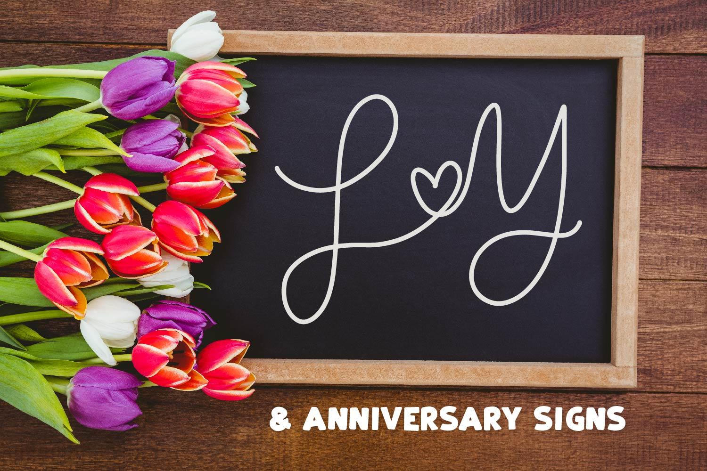 Couple Monoline Monogram Font - Perfect For Weddings! example image 7