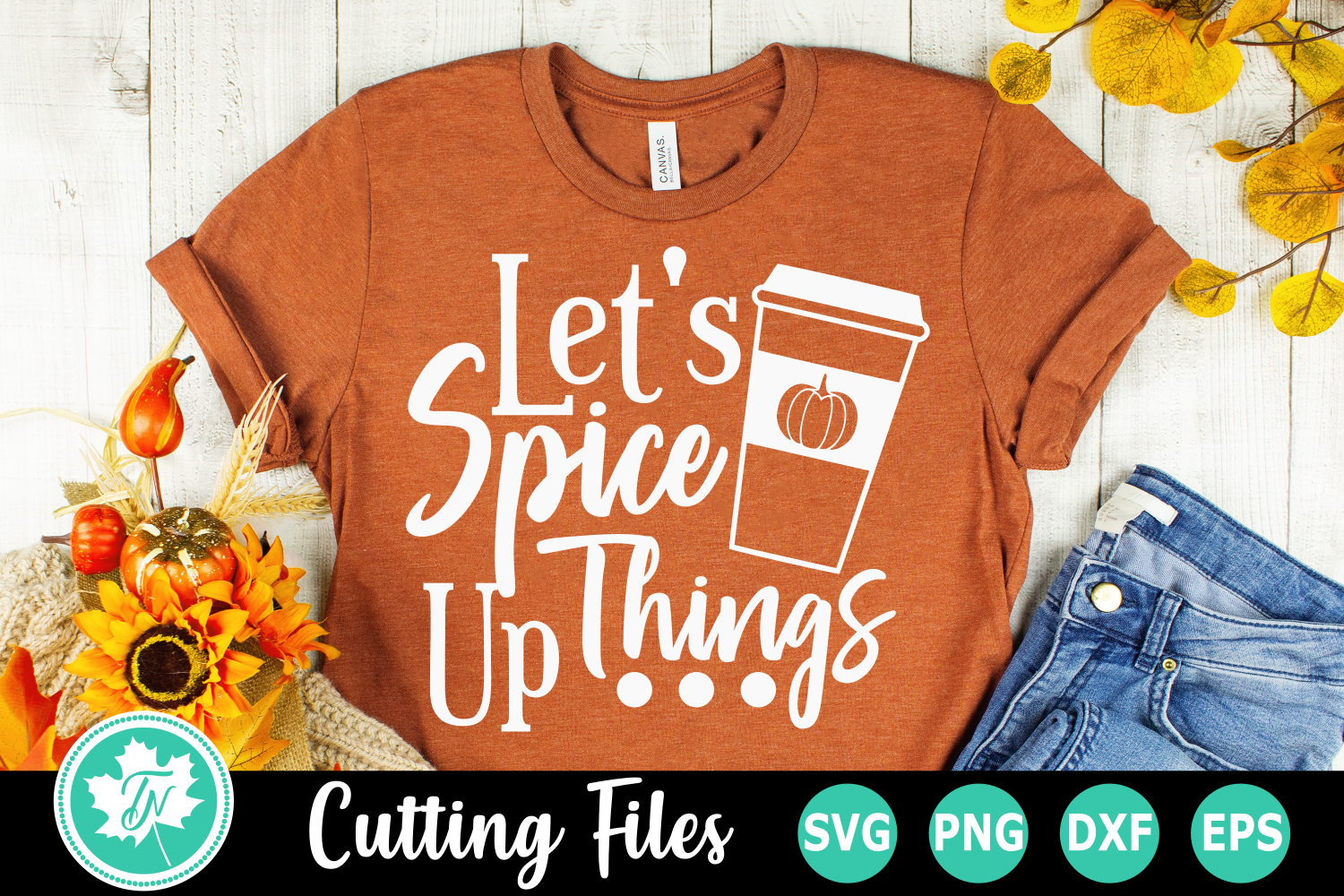 Let's Spice Things Up - A Fall SVG Cut File example image 1