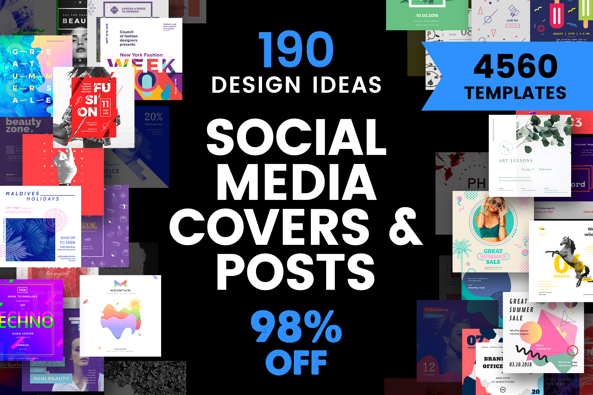 Social Media Cover & Post Design Templates Bundle SALE example image 1