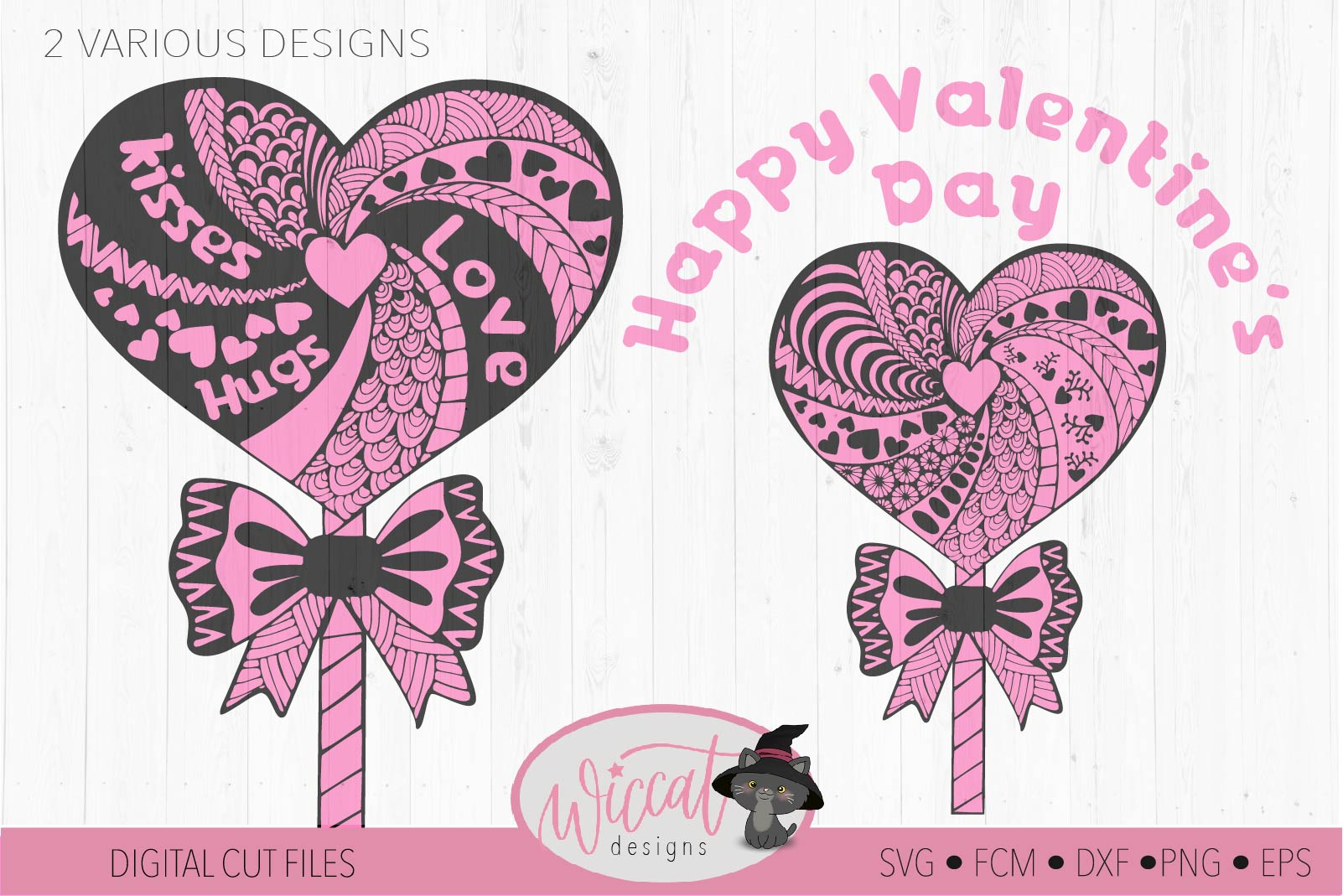 Lollipop zentangle Heart, valentine doodle heart svg example image 2