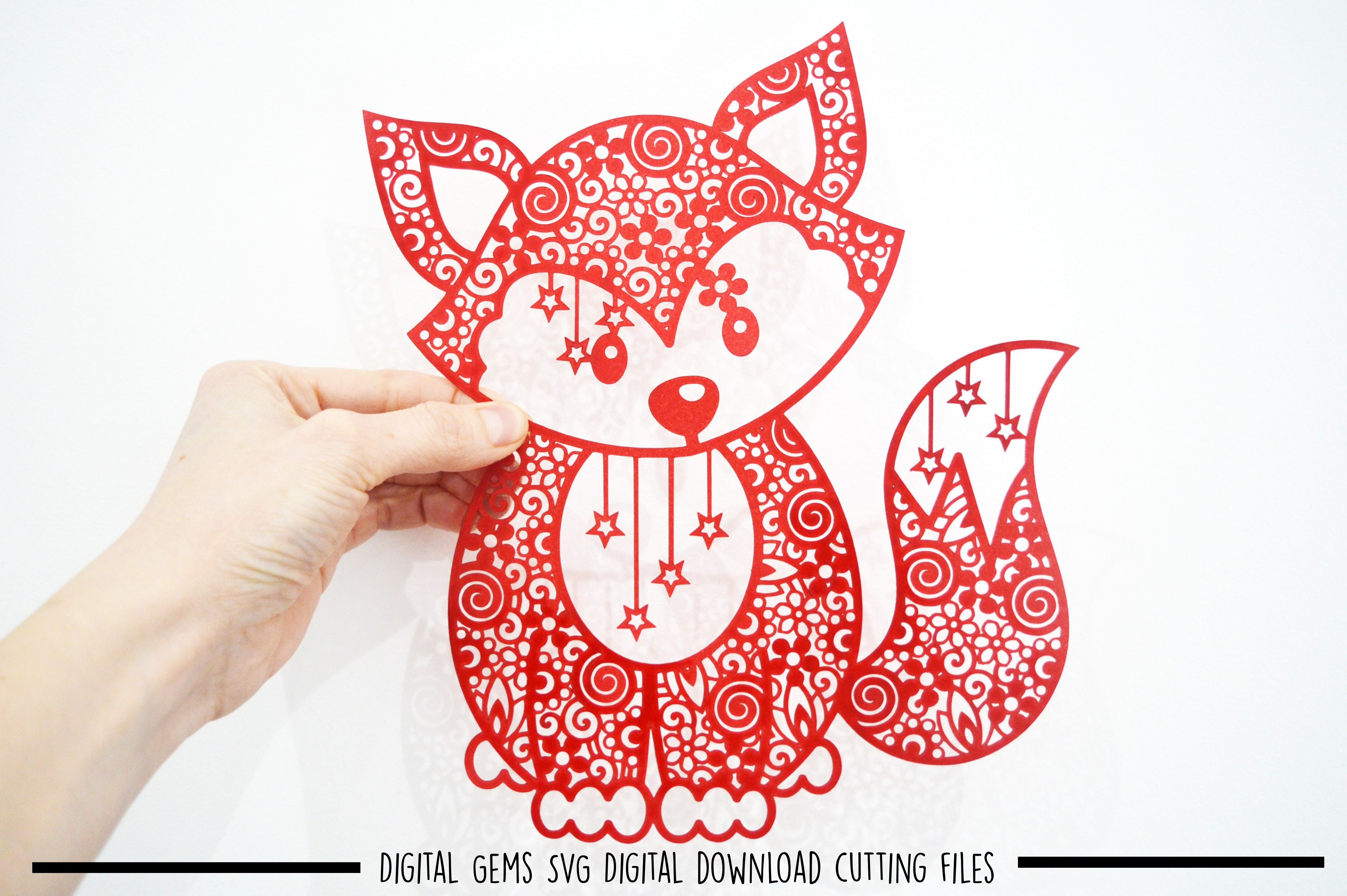 Fox paper cut SVG / DXF / EPS files example image 10