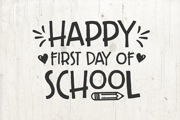 Happy First day of School svg - back to school sign example image 2