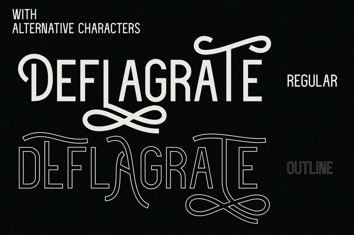 Deflagrate Fonts example image 5