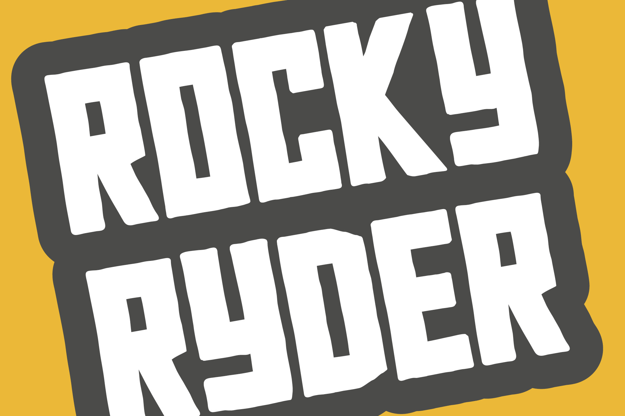 Rocky Ryder - a rough and rugged font example image 10