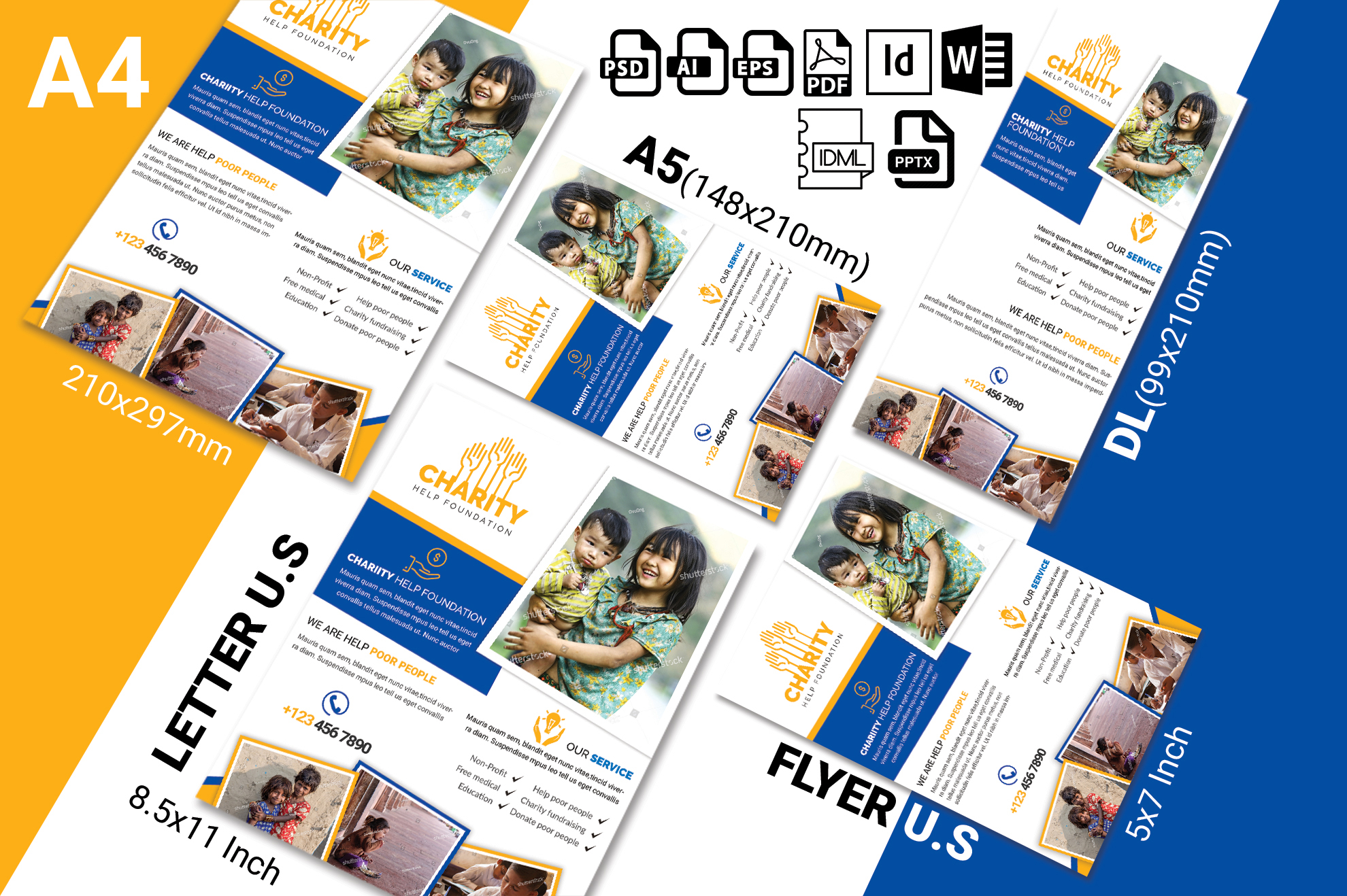 Charity Donation Flyer Vol-02 example image 2