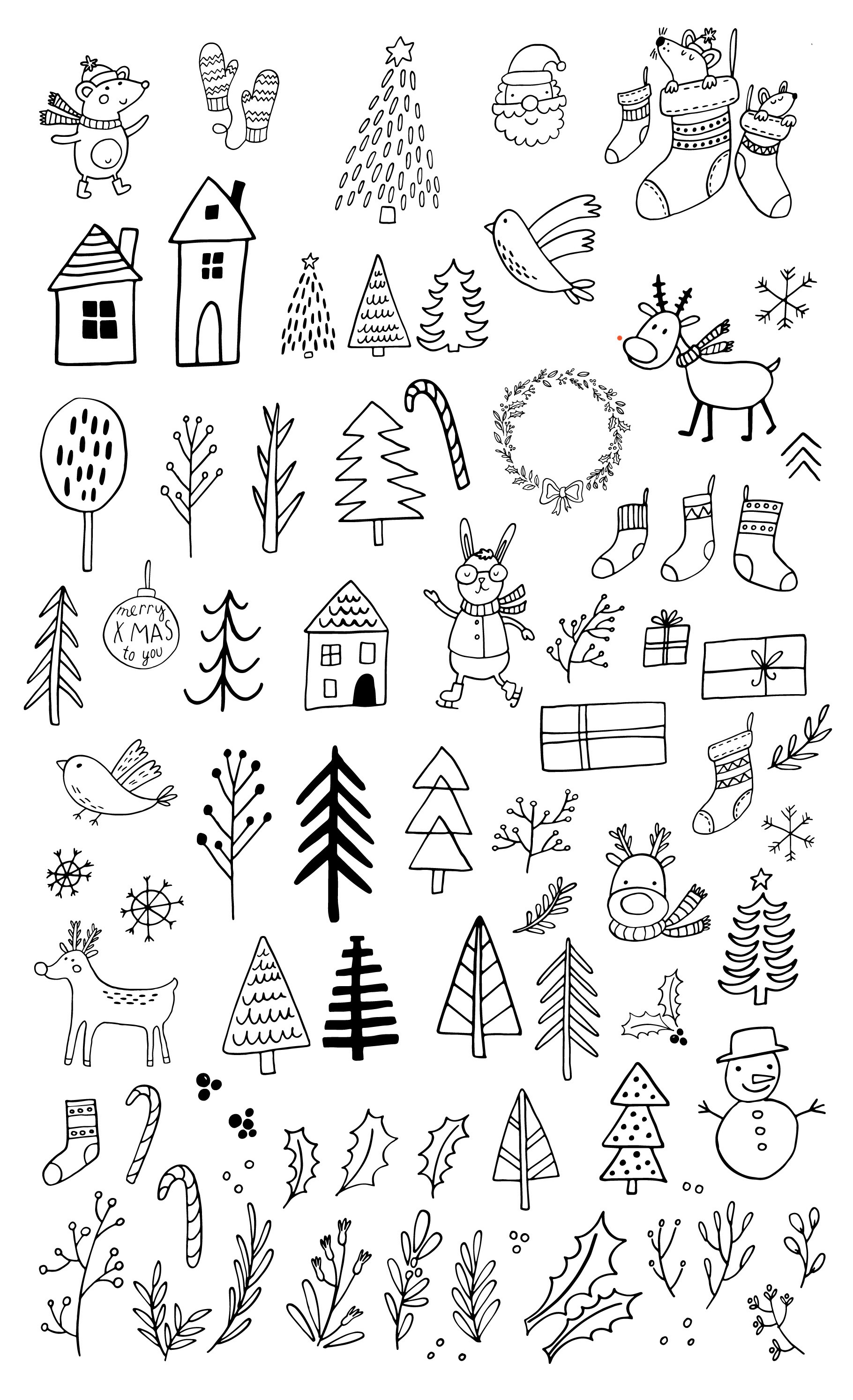 Cozy Christmas Clipart example image 11