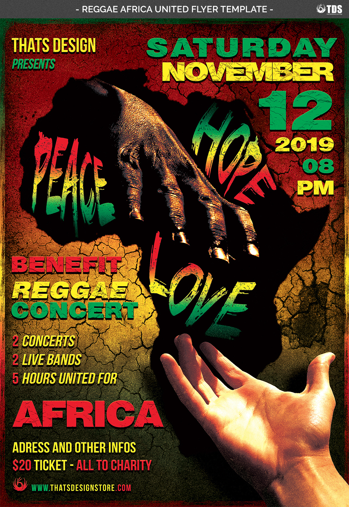 Reggae Africa United Flyer Template  example image 4