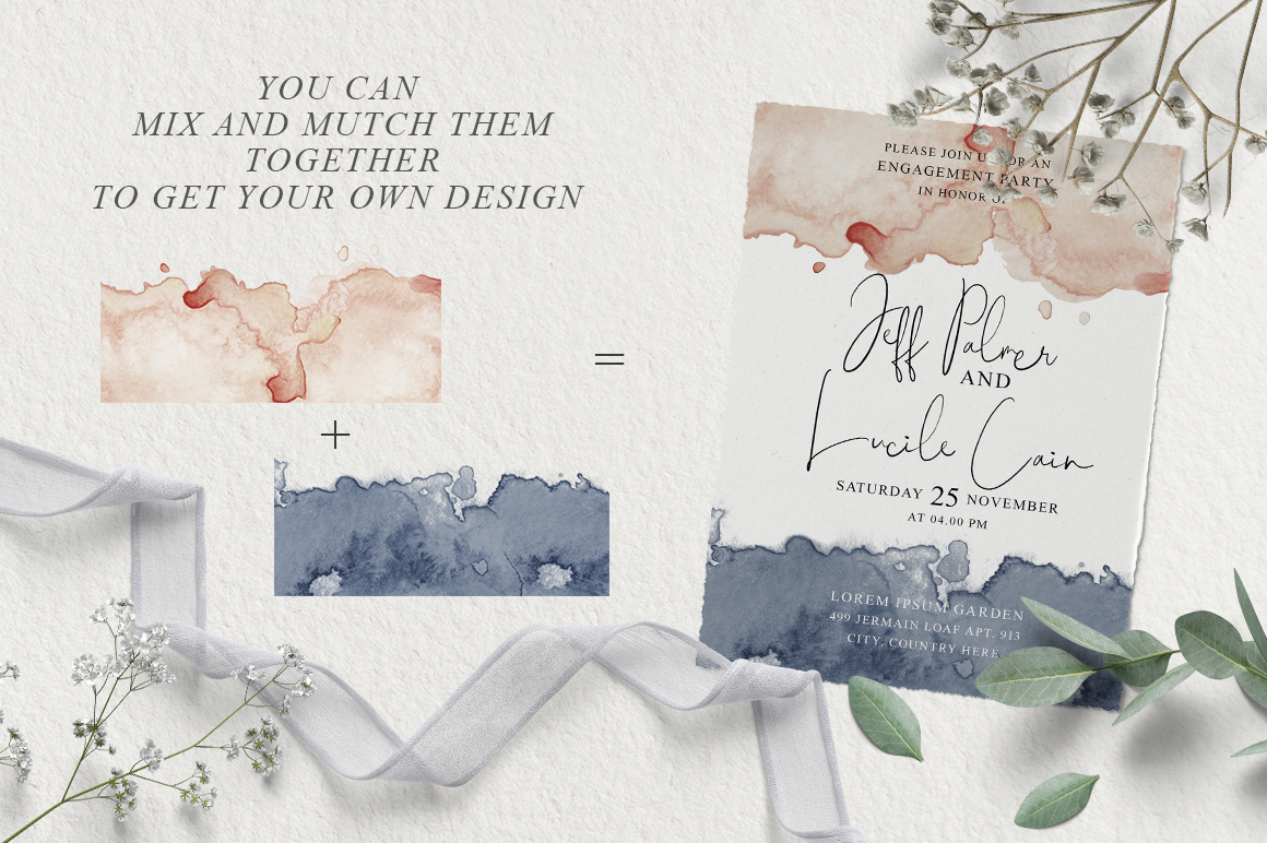 Elegant Watercolor Backgrounds example image 11