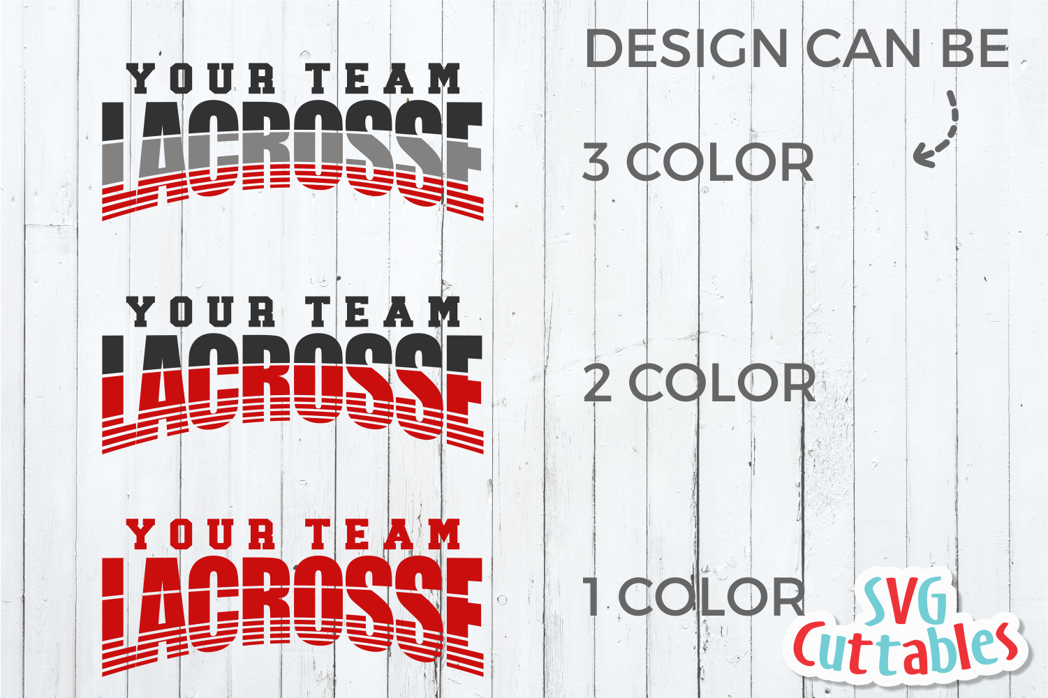 Lacrosse Template 001 | SVG Cut File example image 3