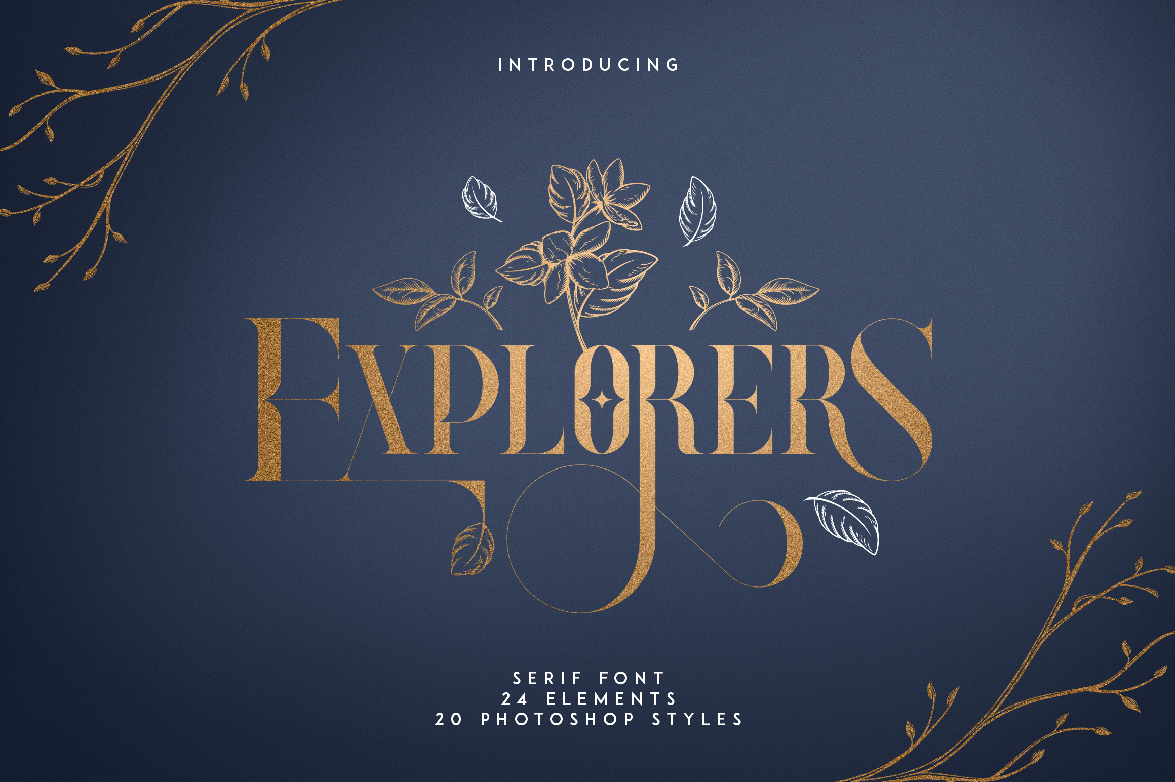 Explorers - Serif font Extras example image 1