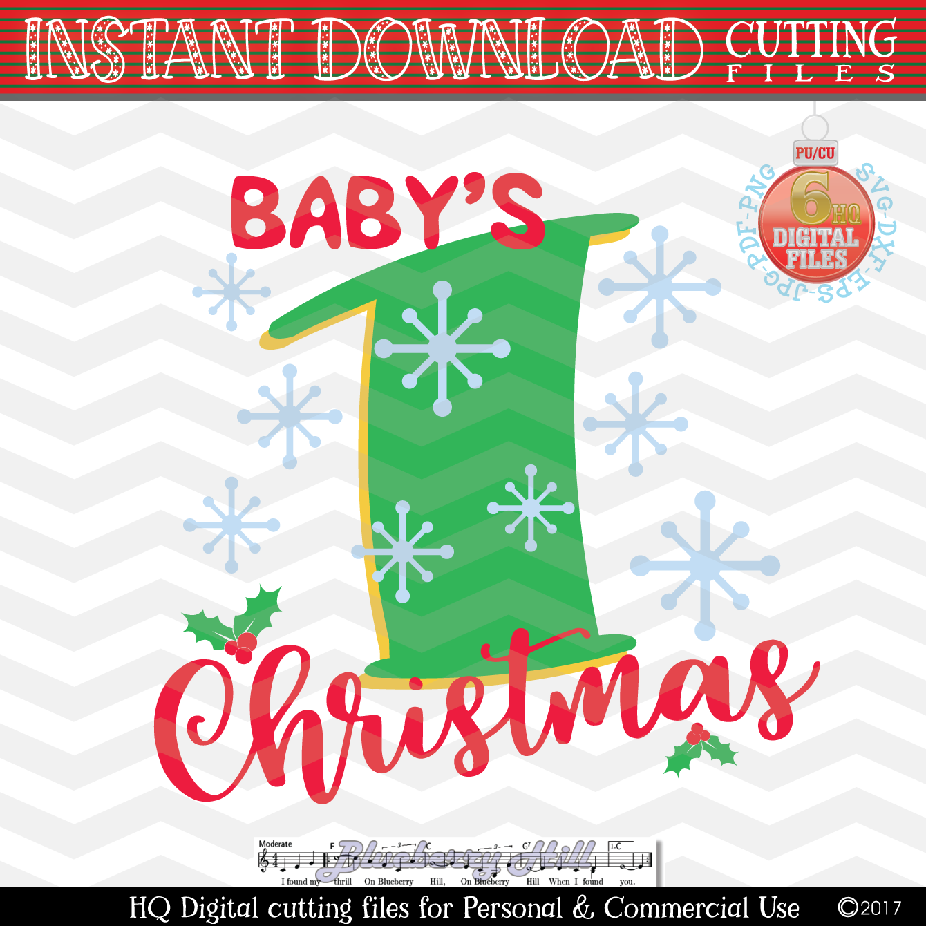 Baby's First Christmas SVG - Christmas svg example image 1