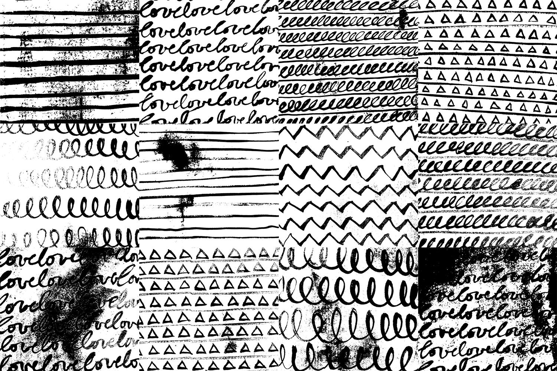 60 Black and White Patterns Bundle example image 5