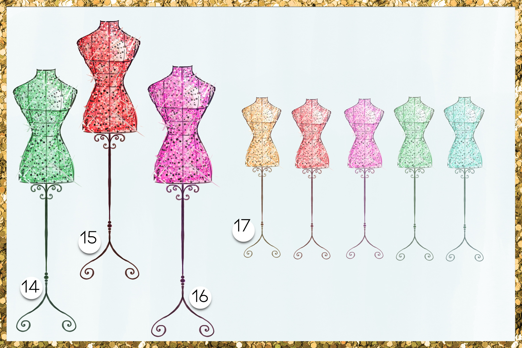 Fashion Png Cliparts - Mannequins - 19 png files on transpar example image 6