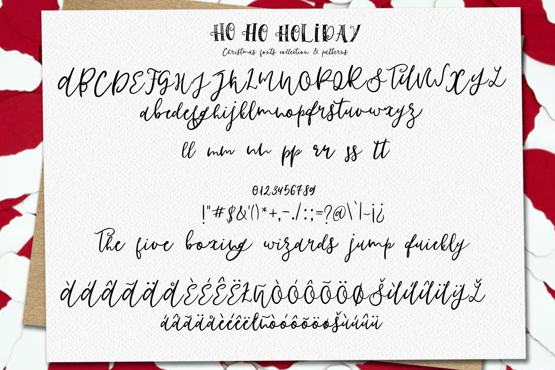 Ho-Ho-Holiday Fonts collection example image 11