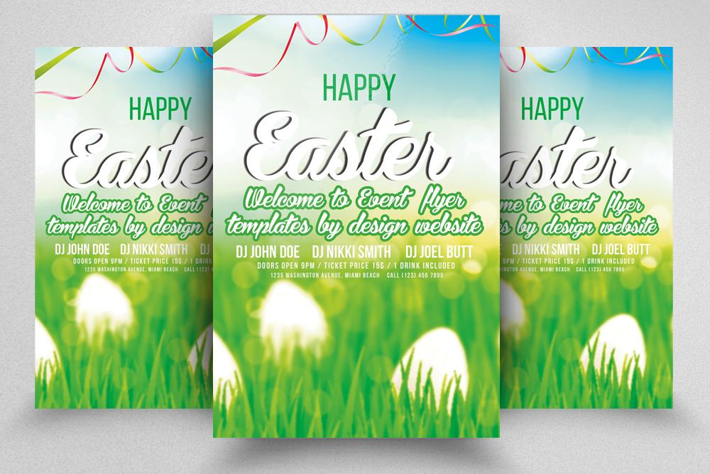 10 Easter Egg Psd Flyer Print Template Bundle example image 5